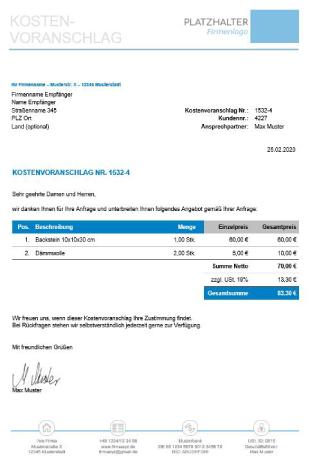 Rechnungsvorlagen Kostenlos Rechnungsvorlage Fur Jeden Zweck 6