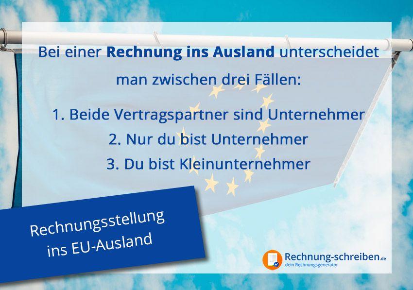 Rechnungsstellung ins EU-Ausland