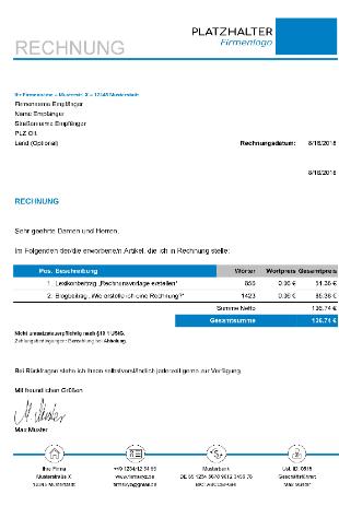 Rechnungsvorlage-Freiberufler-Excel