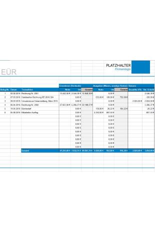 Einnahmen Uberschuss Rechnung Vorlage Kostenlos