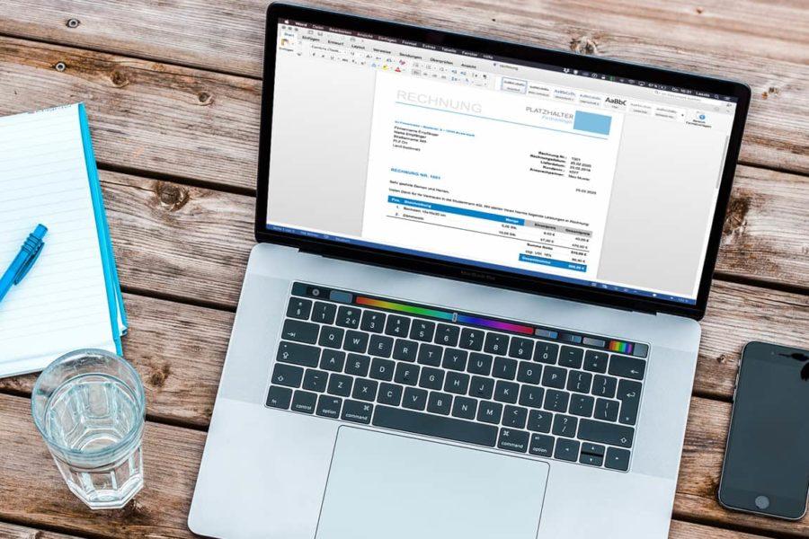 Rechnung als eMail versenden